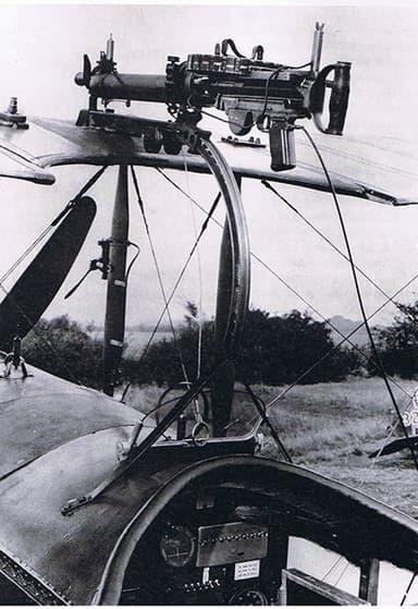 'Foster-Mounted' Lewis Gun on Avro 504K Enabling Firing over Propeller