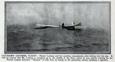 'Hubert Lathham and His Machine after Falling Into the Sea, July 19, 1909