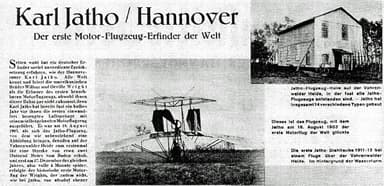 'The First Motor Aircraft Invention in the World'