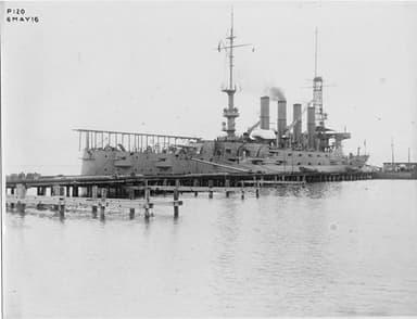 1916 Catapult Launcher on USS North Carolina