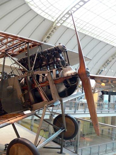 197 hp Austro-Daimler Engine in an Aviatik D.1 (Vienna Technical Museum)