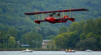 72-foot Wingspan Reproduction of 1914 Curtiss Flying Boat America