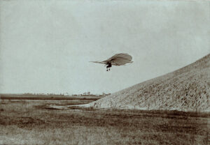 Otto Lilienthal Performing One of his Gliding Experiments (Circa 1895)