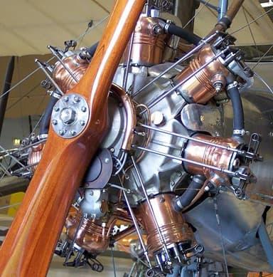 A 1915 Emile Salmson Water Cooled, Seven Cylinder Radial Engine