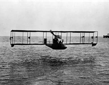 A Benoist XIV over Tampa Bay in Florida in 1914