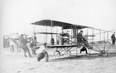 A Curtis Airplane of the Type the Raiche Family Owned