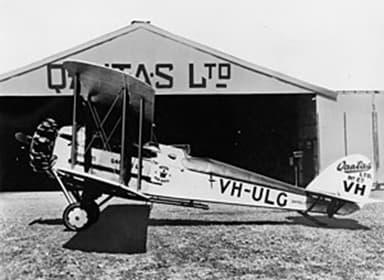 A DH.50J of Qantas Airline in Australia