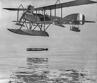 A Later Model Short Type 320 Launches a Torpedo (1916)