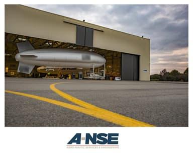 A-NSE Airships in Fabrication Hangar