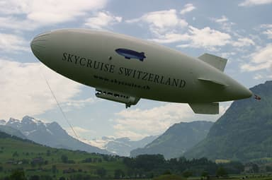 A Skyship 600 in Skycruise Switzerland in the Swiss Alps