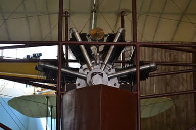 A detail of the Four-Cylinder Fan Engine of the Caproni Ca.1