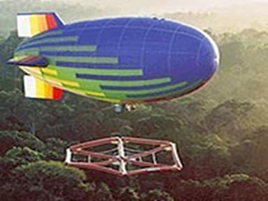 Airship A-300 Lowers Raft to Forest Canopy
