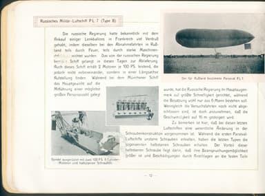Airship PL-7 in Luft-Fahrzeug-Gesellschaft Brochure