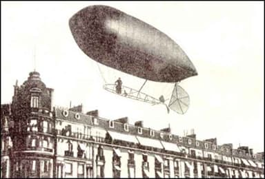 Alberto Santos-Dumont Pilots No 9 Over Paris