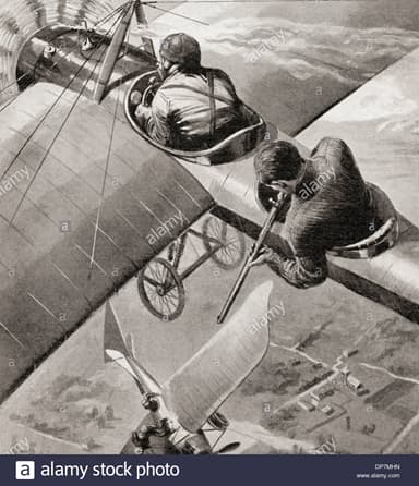 Artist's Impression: An Early Air Battle (1914)