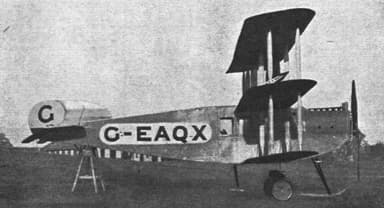Avro 547 Triplane Glimpsing Passenger Accommodation
