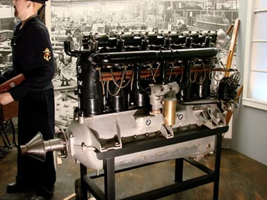 BMW IIIa Inline Six-cylinder SOHC Valvetrain, Water-Cooled Aircraft Engine