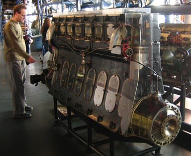 Beardmore Tornado Engine from R101 in the Science Museum in London