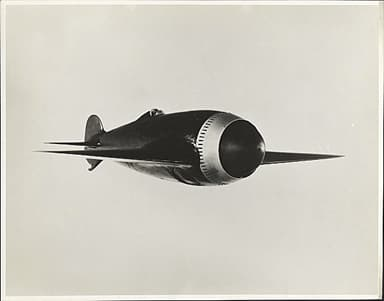 Bristol Aircraft Photo Showing a Model of the Type 72 Racer