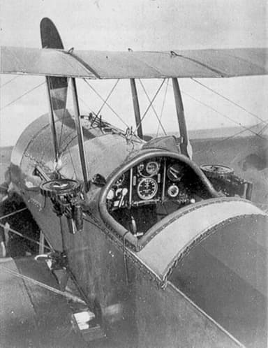 Bristol Scout D with Twin Unsynchronized Lewis Guns Fitted to Mounts