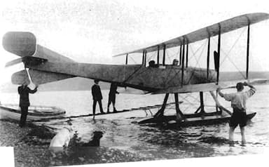 Bristol T.B.8 Hydro-biplane Shown at Dale in July, 1913, in its Original Form