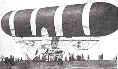 British Army Dirigible No 1 When She Flew on 10 September 1907