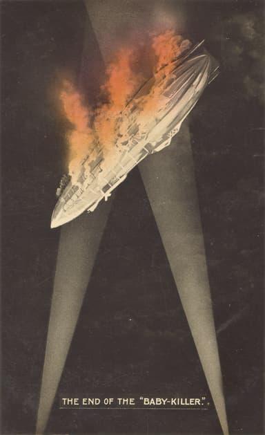 British Propaganda Postcard of the Event