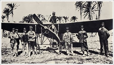 Captain Piazza's Blériot XI during the Campaign of Libya, 1911