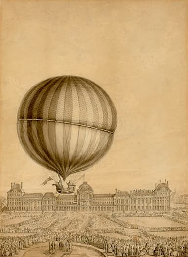 Contemporary Illustration of Flight by Charles and Robert (December 1, 1783)