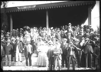 Crowd at the Hunaudières Racetrack at Le Mans, France August 8, 1908