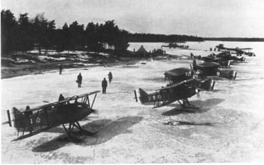 Curtiss PW-8s (later P-1 Hawk) of the 1st Pursuit Group Warming Up