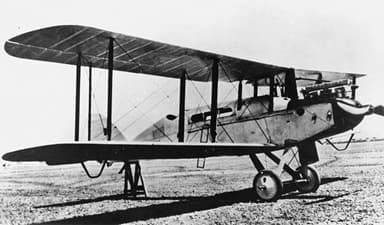 DH-9 G-AUED Modified with a Cabin for Use as Airliner (1925)