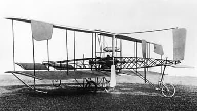 De Havilland Biplane No1 at Seven Barrows (1909)