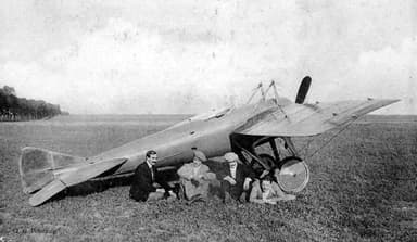 Deperdussin Monocoque Racer and Four of its Pilots (1912)