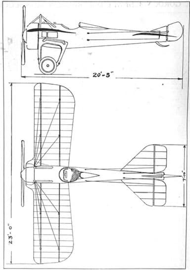 Deperdussin Racer 2 View Drawing