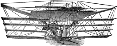 Drawing of Maxim's Flying Machine