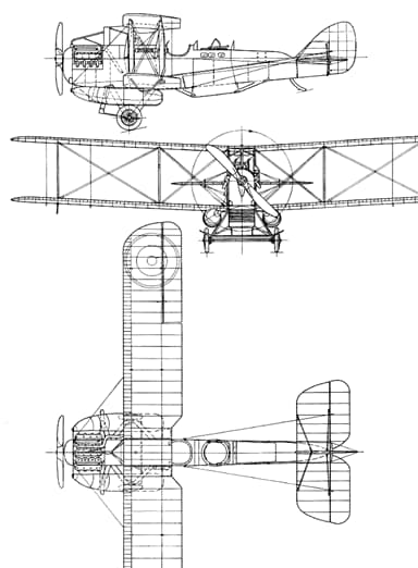 Drawing of Westland Walrus Showing Hydroplanes and Floatation Bags