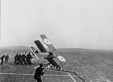 Dunning's Sopwith Pup Veering Off the Flight Deck of HMS Furious