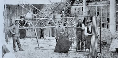 Early phase of the construction of the Caproni Ca.1 in Arco, Italy (1909 & 1910)