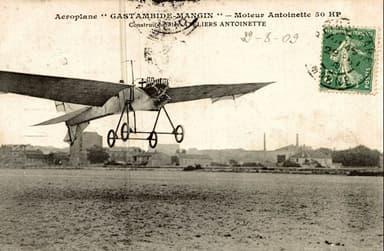 Experimental Monoplane Gastambide-Mengin and Antoinette II (February 1908)