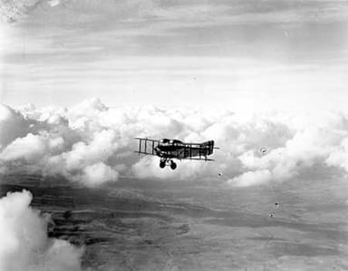 Fairey Fawn Aircraft in Flight (1920's or 30's)