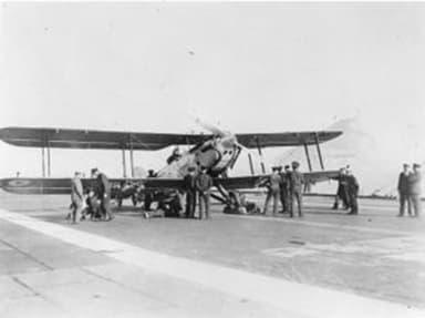 Fairey IIIF on HMS Furious Flight Deck