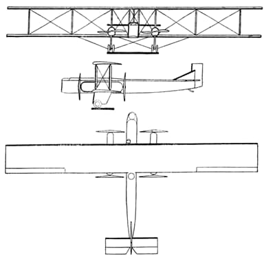 Farman F.140 Super Goliath 3-View Drawing from Les Ailes February 26, 1926