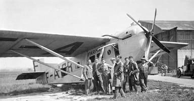 Farman F.170 Jabiru with Passengers and Grew