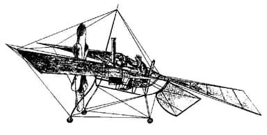 Félix du Temple's 1874 Monoplane Design