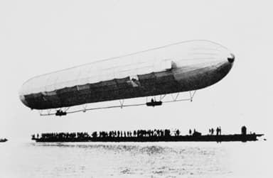 First Ascent of the LZ1 Zeppelin on July 2, 1900