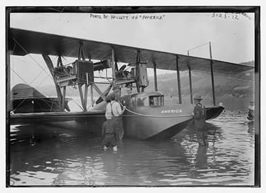 First Launch of America in June 1914 Showing Curtiss OX 5 Engines