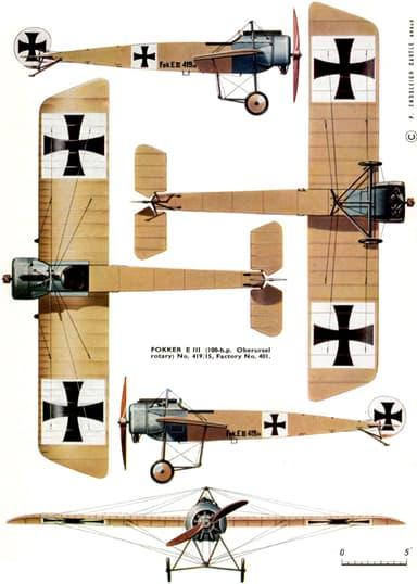 Five View Image of Fokker E.III
