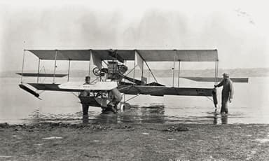 Floats on an A-1 Triad Visible at Curtiss camp on North Island, California