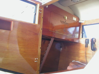 Fold-Down Writing Desk at Front Seat in Model 40C Rear Passenger Cabin